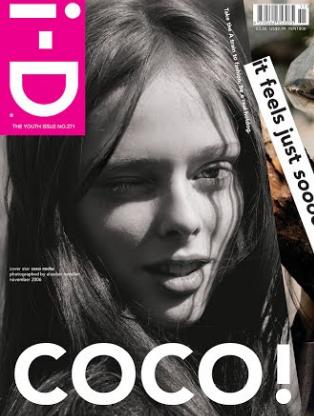 Capa da i-D com Coco Rocha