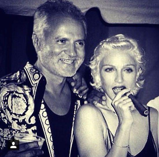 Madonna e Gianni Versace