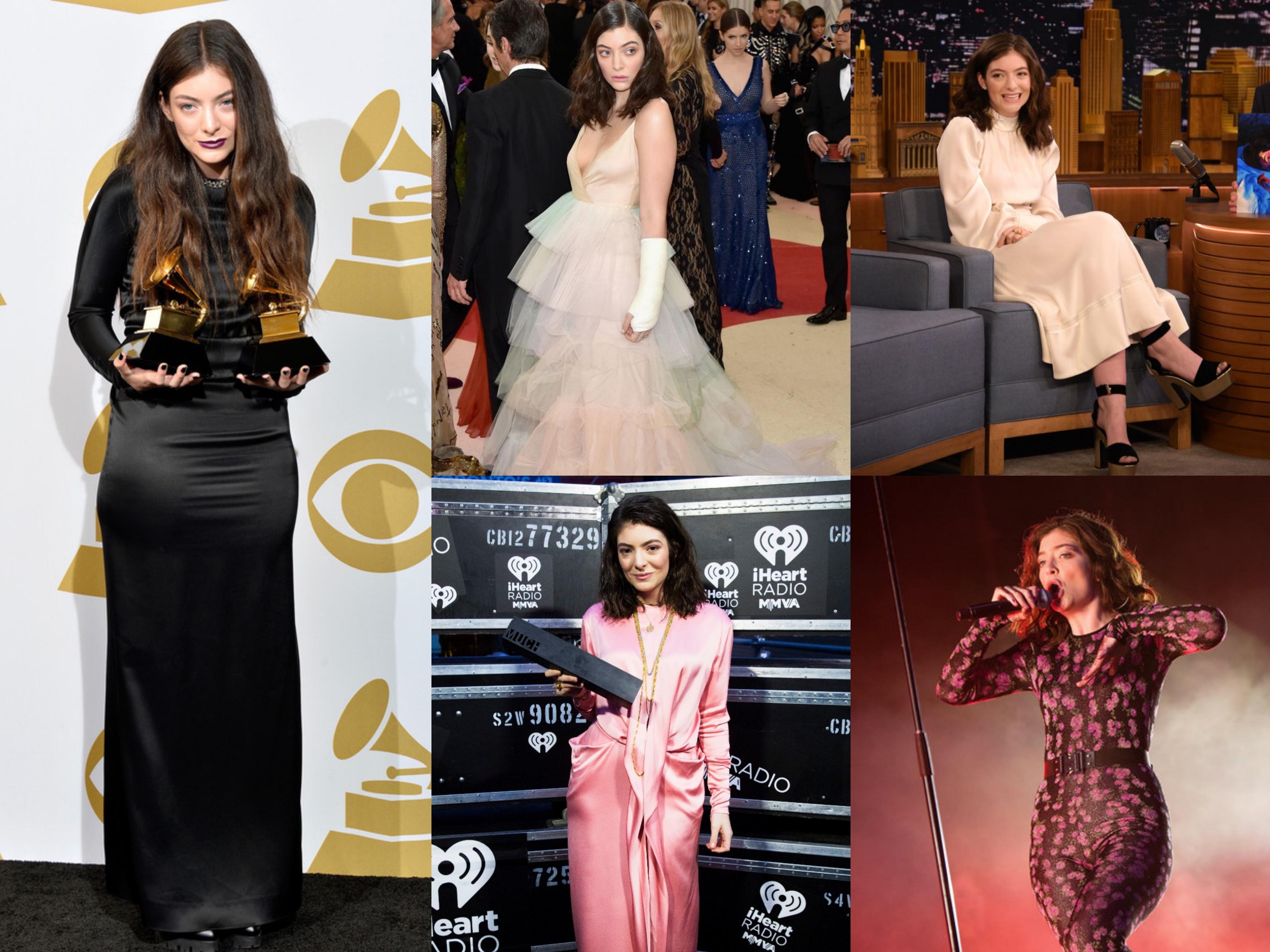No Grammy Awards 2014, de Valentino no MET Gala 2016, de Sonia Rykiel, Céline e Gucci, 2017