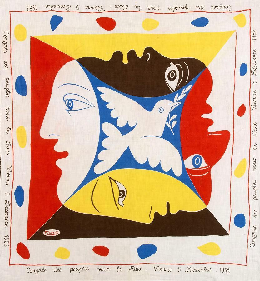 Pintura de Pablo Picasso em algodão