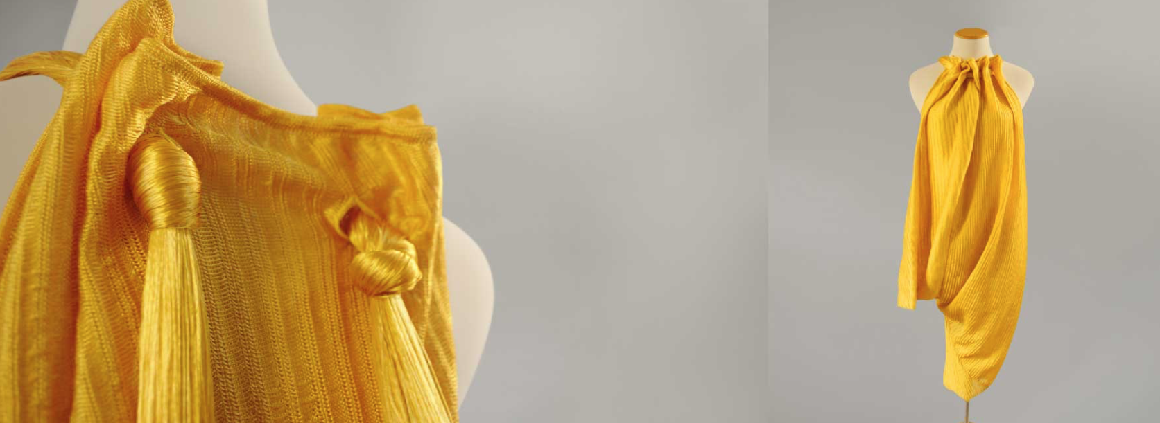 O vestido criado por Stella e a Bold Threads / Reprodução