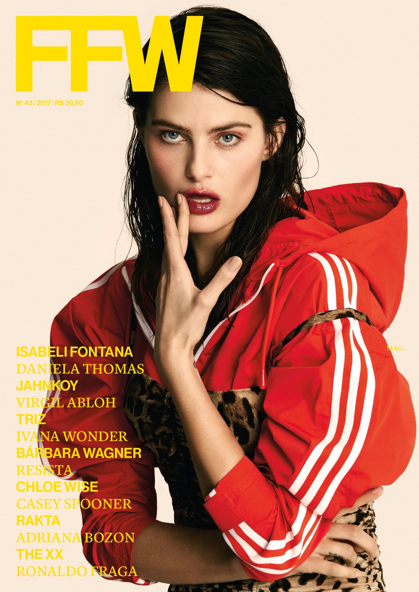 Isabeli Fontana em uma das quatro capas da edição.