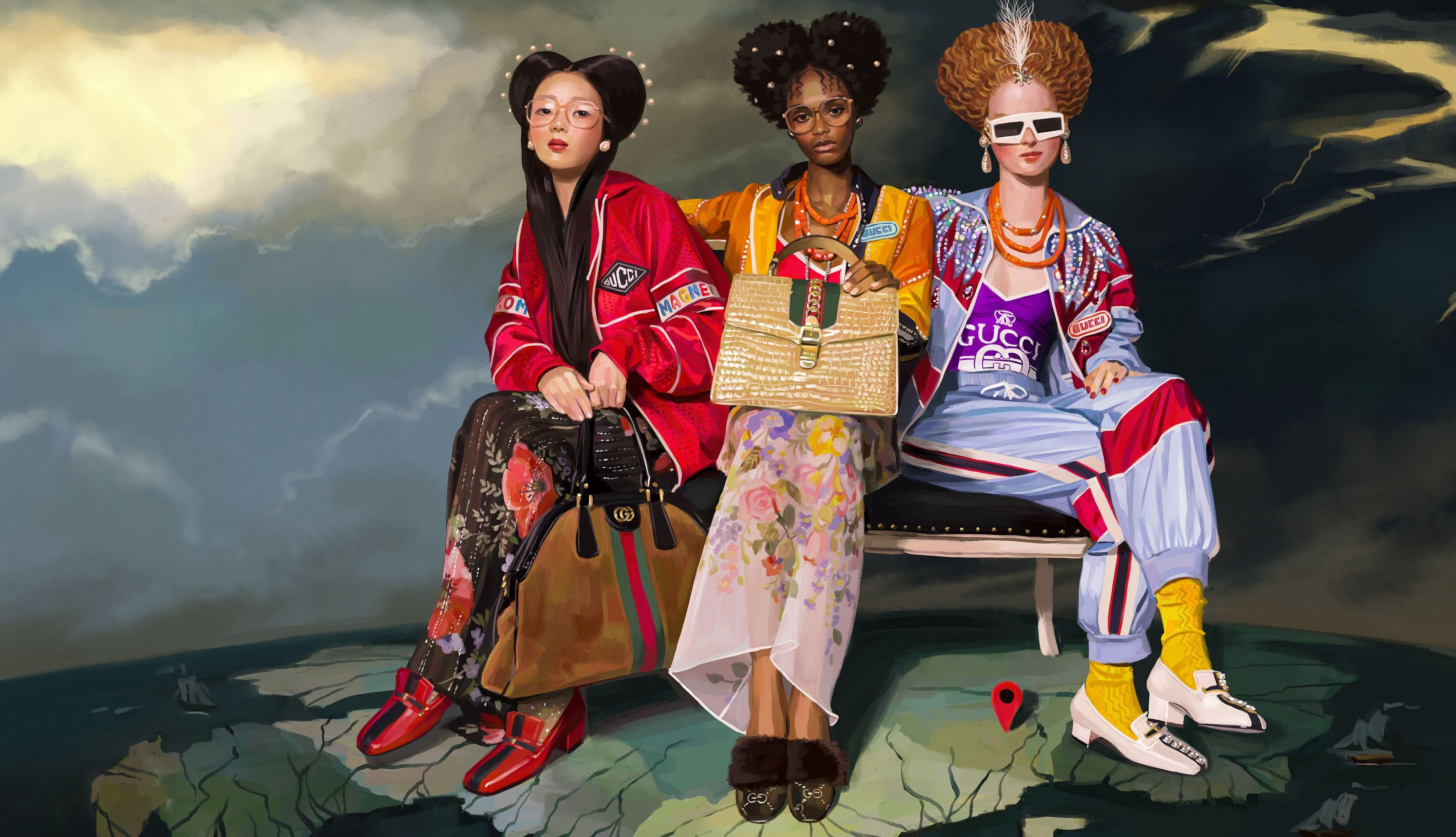 Gucci com ilustração digital de Ignasi Monreal