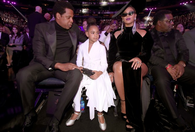 Jay Z, Blue Ivy e Beyoncé / Reprodução
