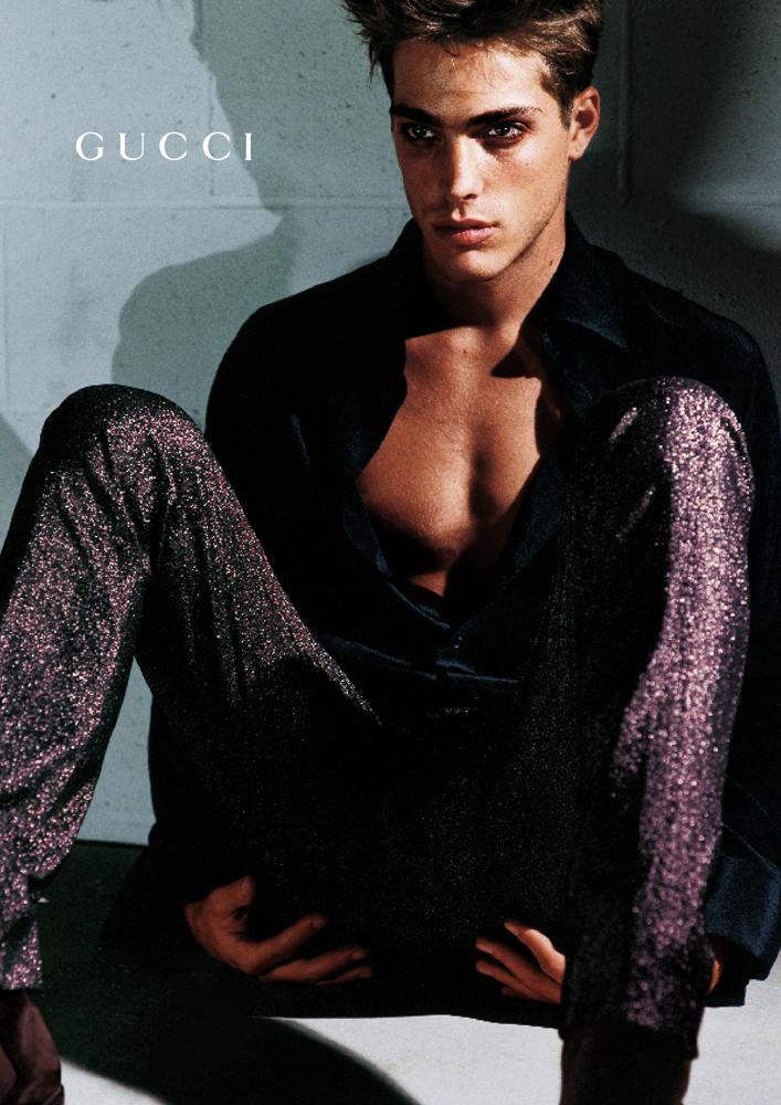 Jason Fedele em campanha da Gucci em 1997 / Reprodução