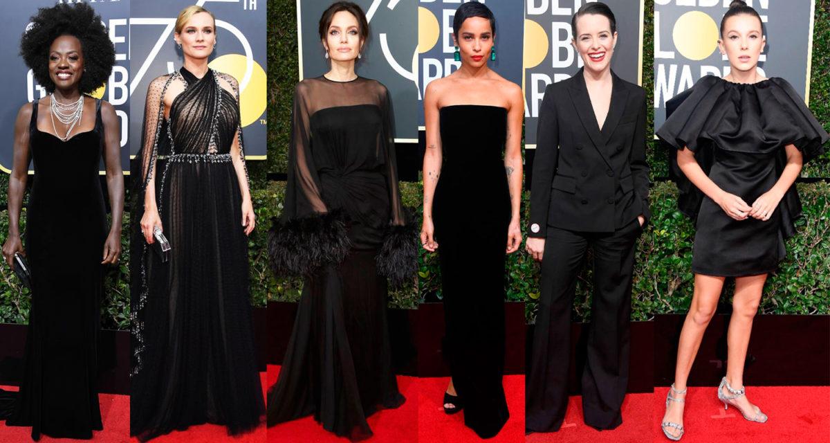 Viola Davis, Diane Kruger, Angelina Jolie, Zoë Kravitz, Claire Foy e Millie Bobby Brown / Montagem FFW