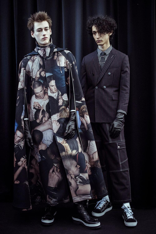 A pintura de Dan Witz no look da Dior Homme / Reprodução