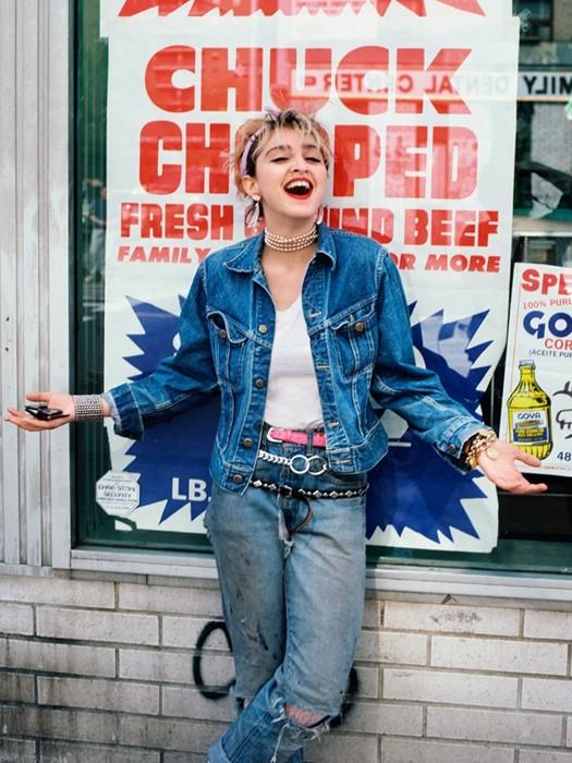 Madonna clicada por Richard Corman um mês antes de ascender à fama