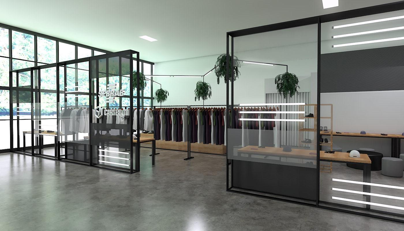 Projeto da loja da Cartel no SPFW / Cortesia