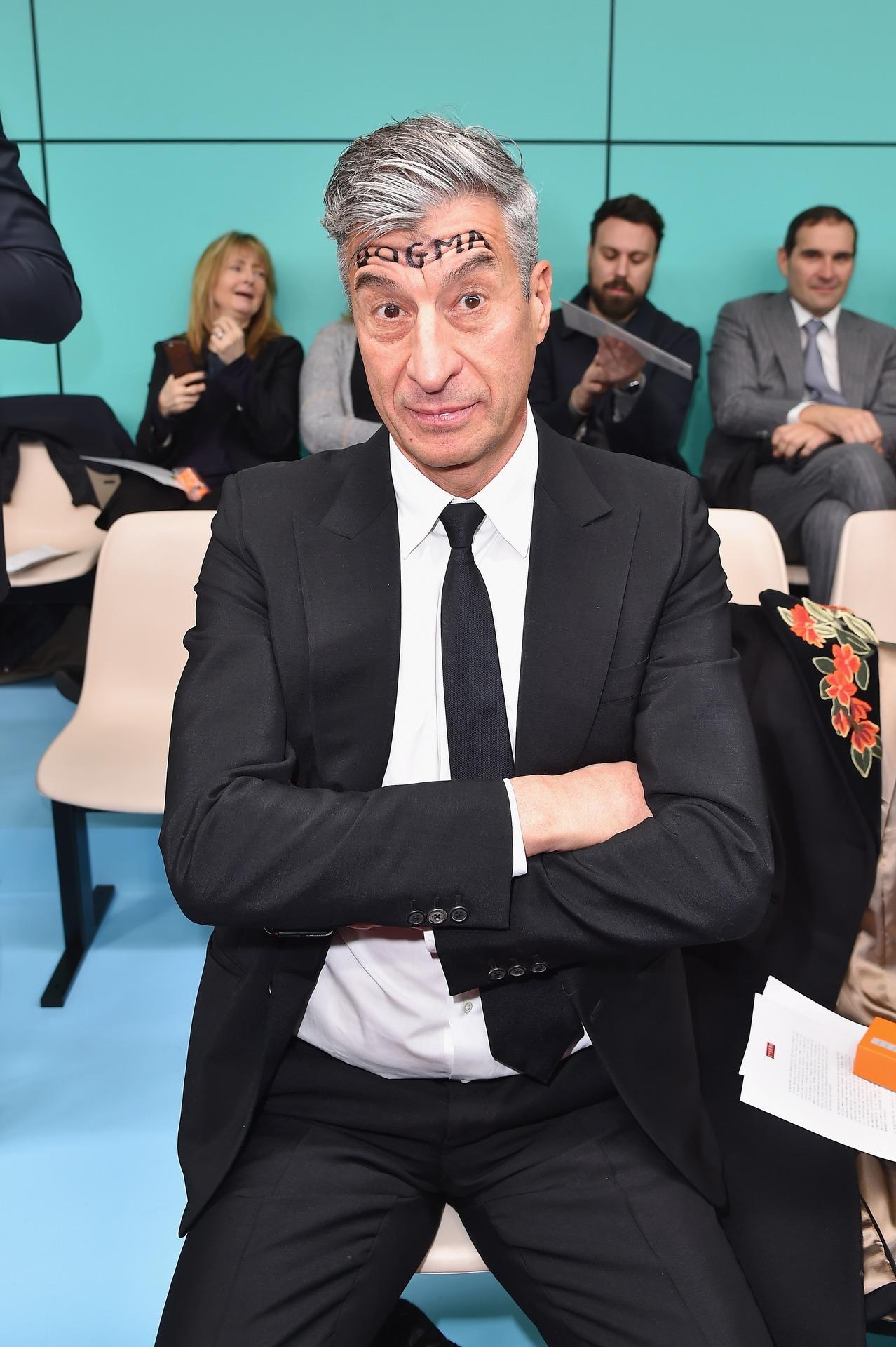 Maurizio Cattelan no desfile de Inverno 19 da Gucci / Reprodução