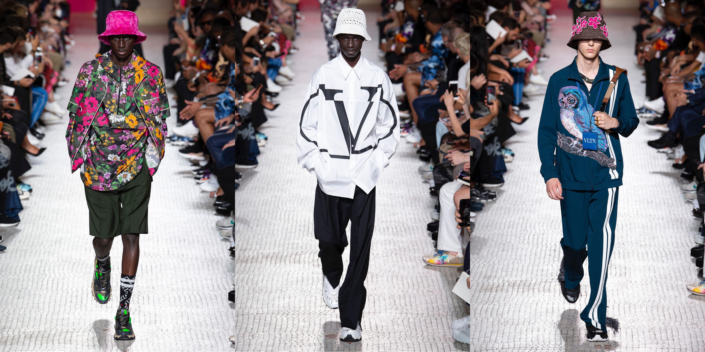 Streetwear forte na Valentino Verão 2019 / Reprodução