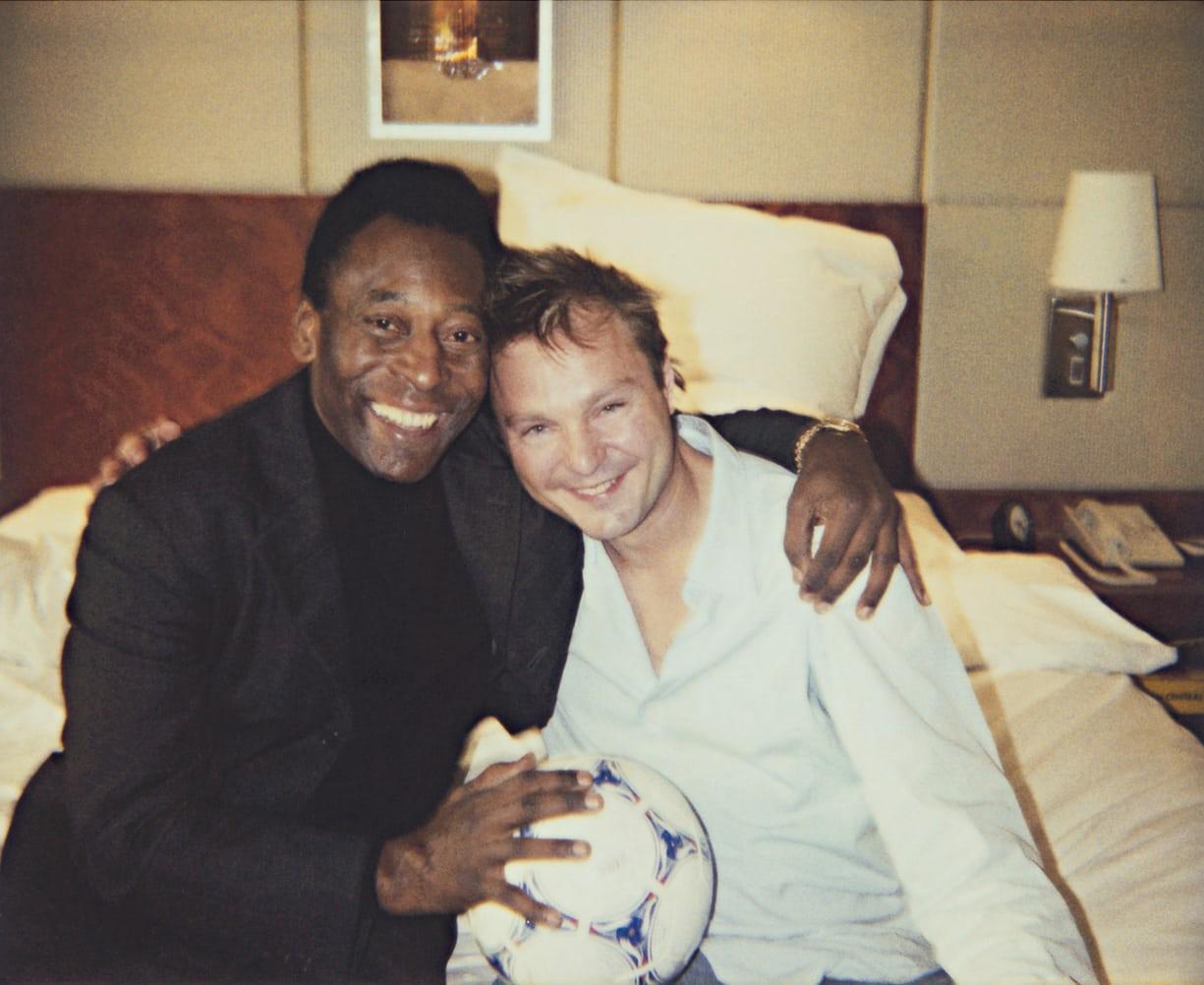 Pelé e Juergen Teller nos anos 2000 / Juergen Teller / Reprodução
