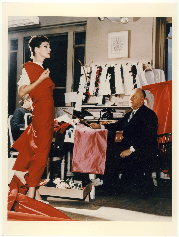 Christian Dior com Lucky Circa em 1955 / Cortesia