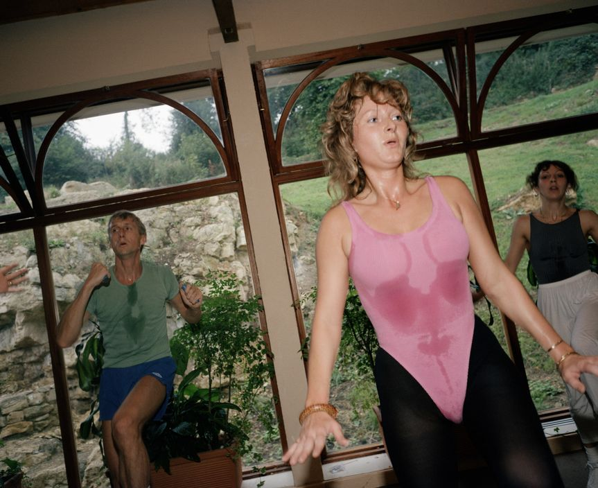 GB. England. Aerobics class. From 'The Cost of Living'. 1986-89 / Reprodução