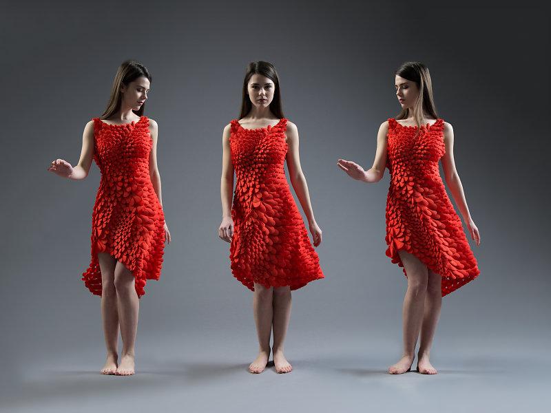 O Kinematic Petals Dress do Nervous System / Reprodução