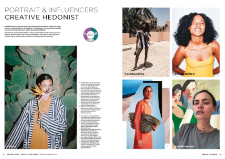 Página do caderno de tendências sobre Beauty & Wellness para o Verão 2020 / Reprodução site Peclers