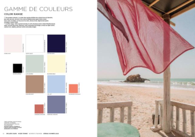 Pesquisa de cores para moda feminina do Verão 2020 / Reprodução site Peclers