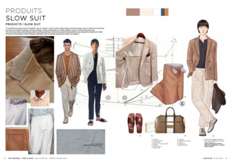 Pesquisas sobre moda masculina para o Verão 2020 / Reprodução site Peclers