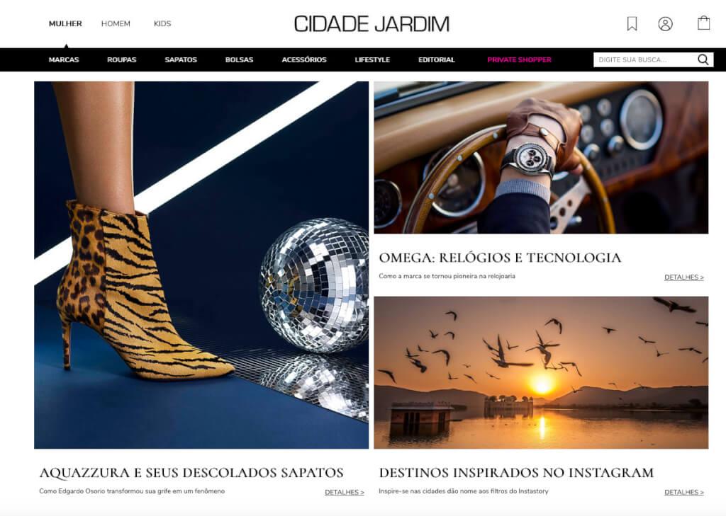 d43a9527cb Cidade Jardim Online, a nova plataforma de vendas do shopping Cidade Jardim  | Reprodução