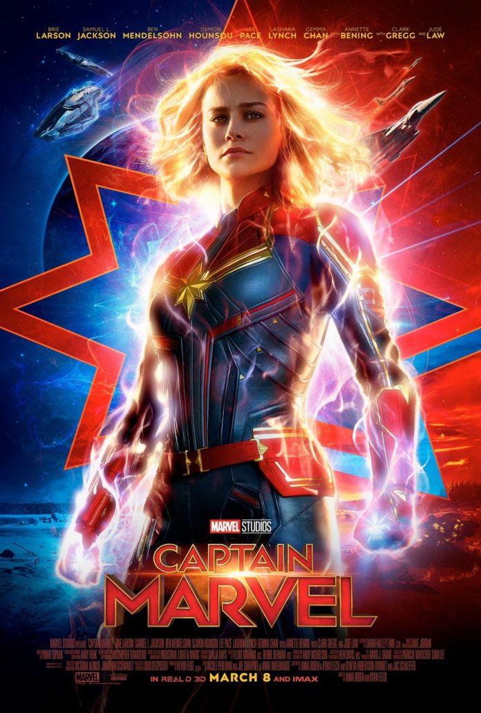 Brie Larson no poster recém lançado do filme / Reprodução