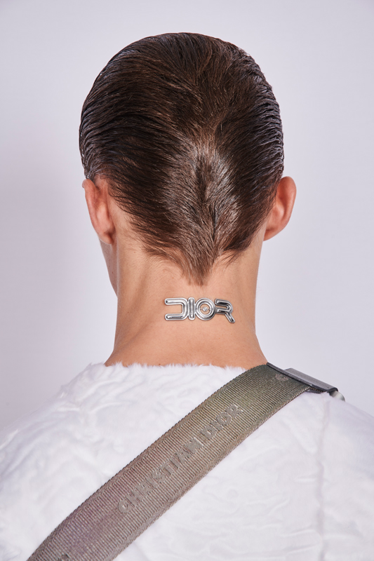 Logo da Dior revisto pelo artista Sorayama © Reprodução