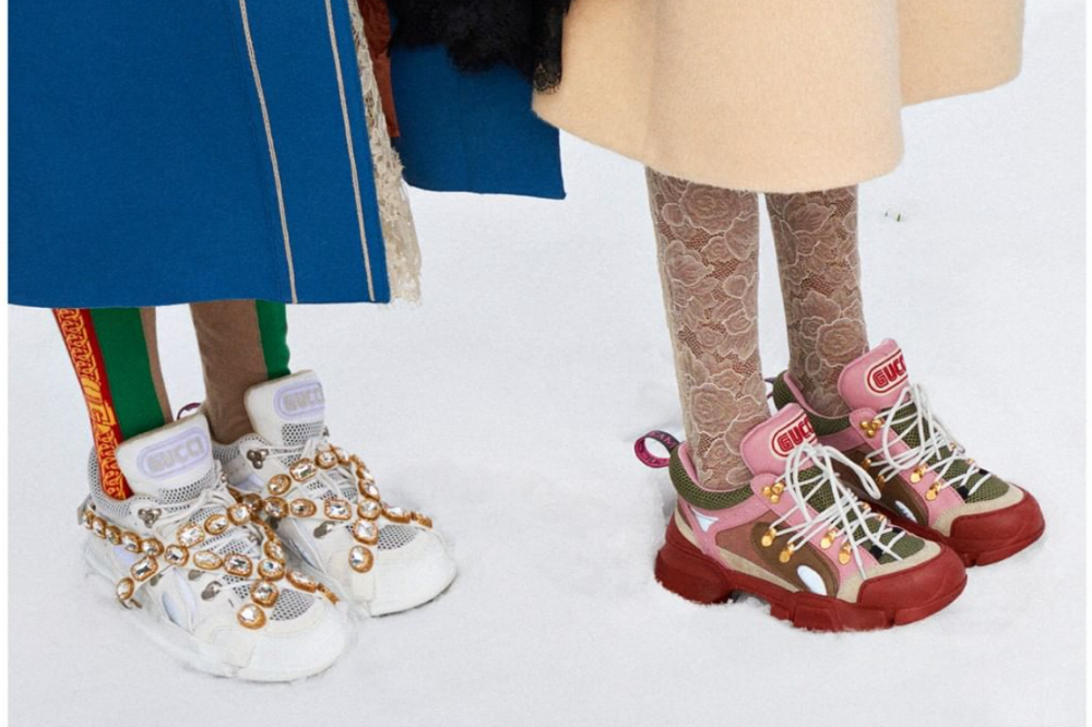 Sneakers na passarela da Gucci / Reprodução