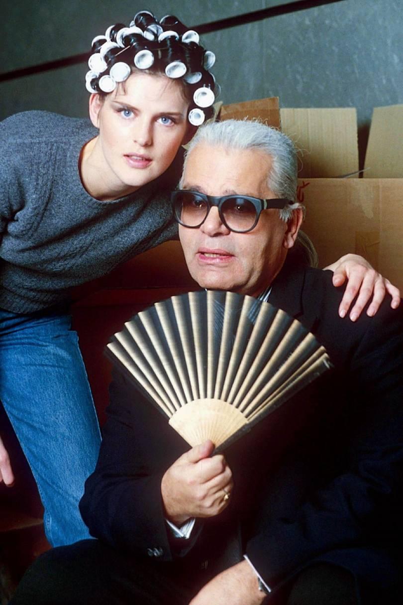 Karl e Stella Tennant / Reprodução
