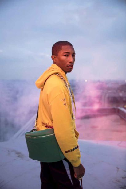A still from the Chanel-Pharrell capsule collection film