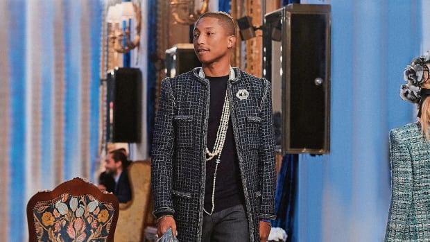 Pharrell no desfile Métiers d'Art 2017 / Reprodução