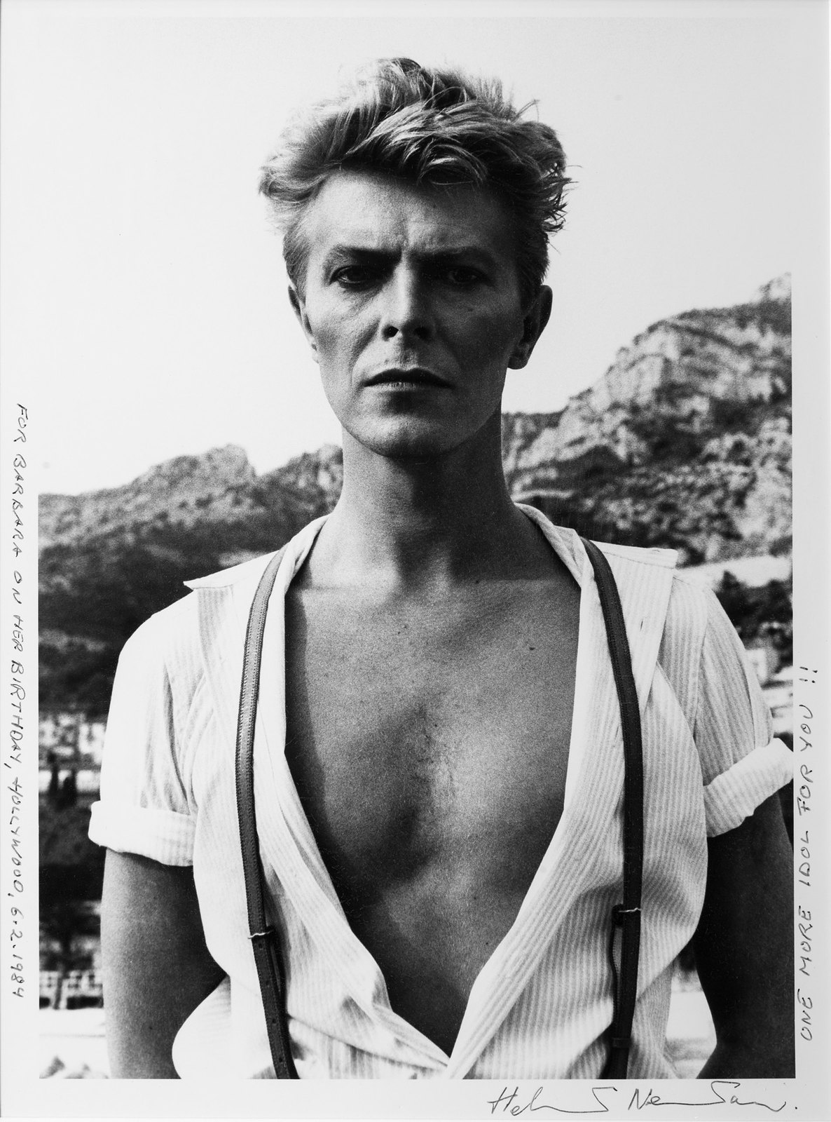 David Bowie por Helmut Newton / Cortesia SP-Foto