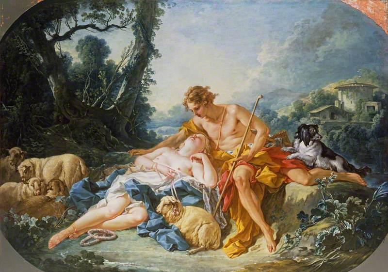 Daphnis and Chloe, de François Boucher / Reprodução