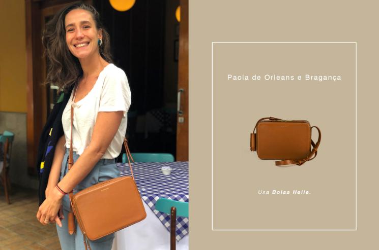 Paola Orleans e Bragança com a bolsa Helle, campeã de vendas / Reprodução