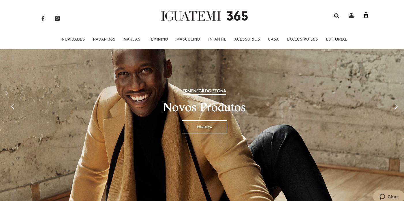 Homepage do e-commerce Iguatemi365 / reprodução