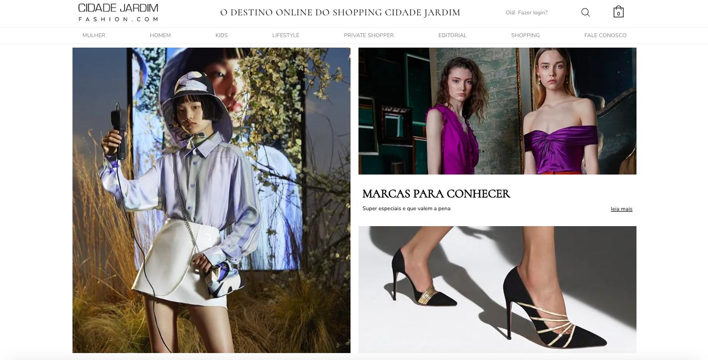 Homepage do CJFASHION / Reprodução