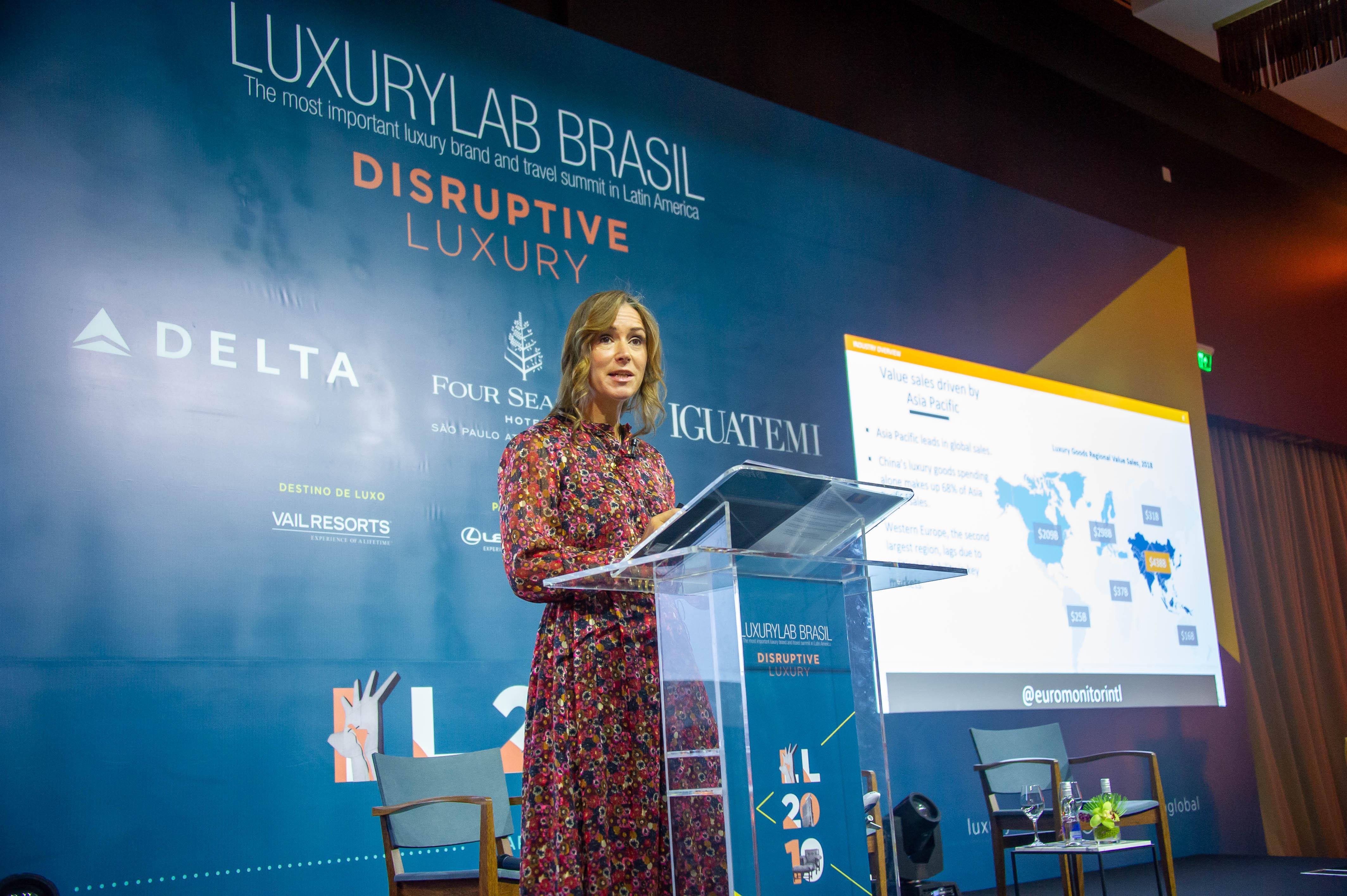 Fflur Roberts no LuxuryLab Brasil / Foto Samuel Chaves