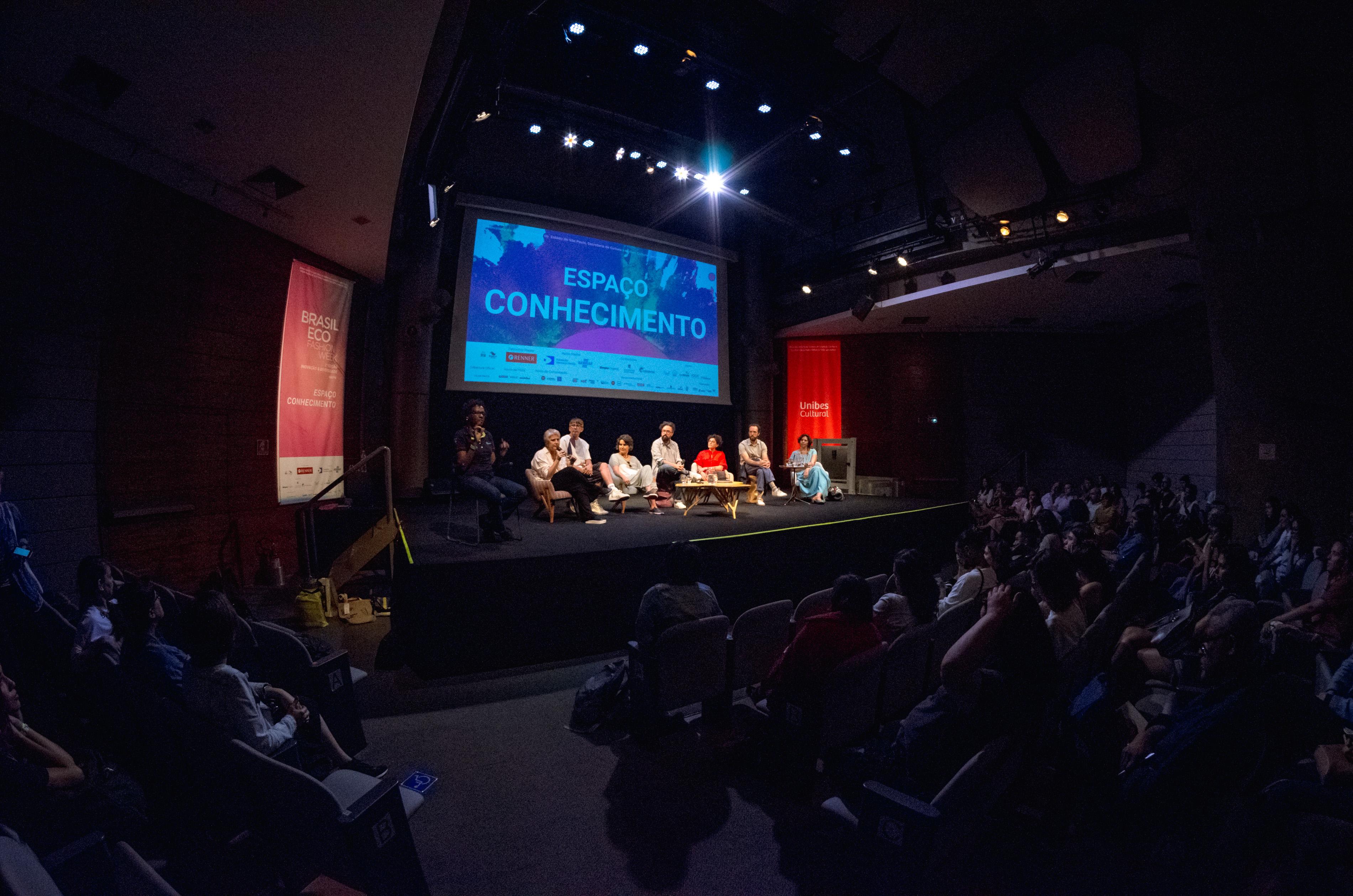 Conversa que aconteceu no Brasil Eco Fashion Week 2018 / Agência Fotosite