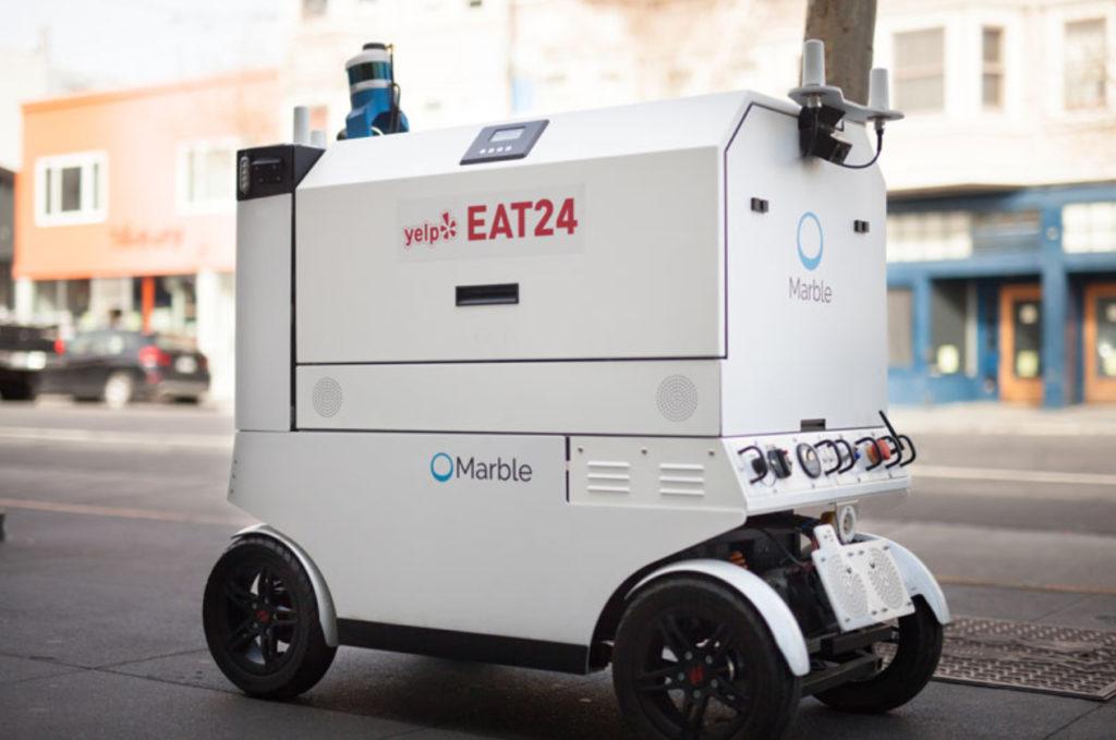 O robô de entrega da Marble / Reprodução