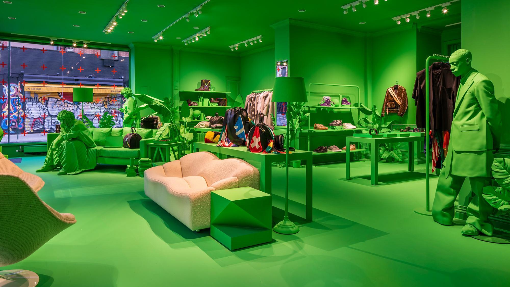 Pop- Up masculina da Louis Vuitton Men em Nova York / Reprodução