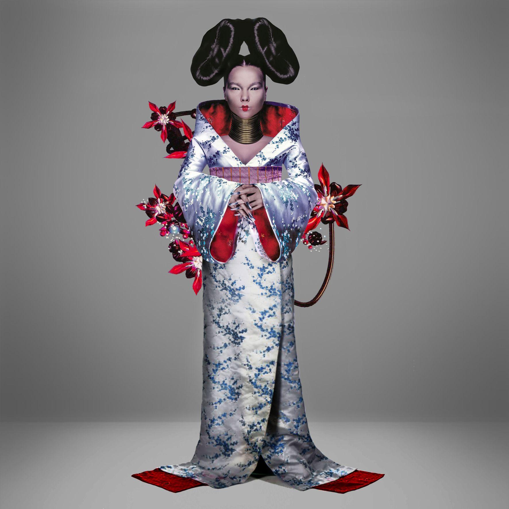 Bjork com quimono criado por Alexander McQueen / Reprodução