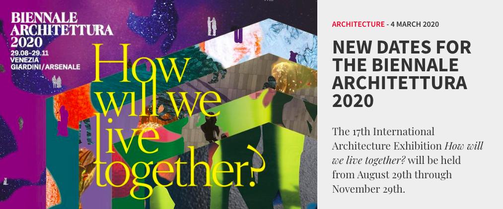 Bienal de Arquitetura em Veneza divulga suas novas datas / Reprodução