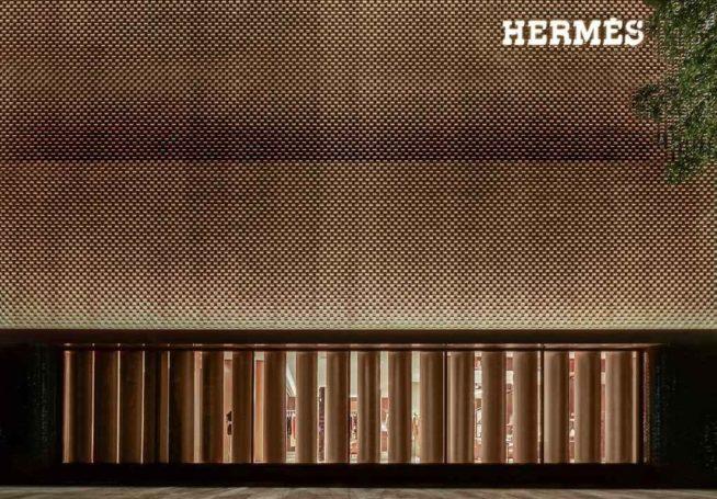 fachada da Hermès em Guangzhou, China