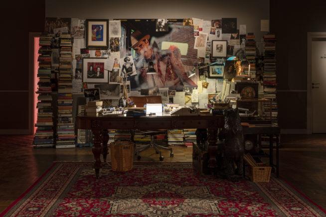 Instalação do escritório de Nick Cave. foto: Anders Sune Berg / Royal Danish Library