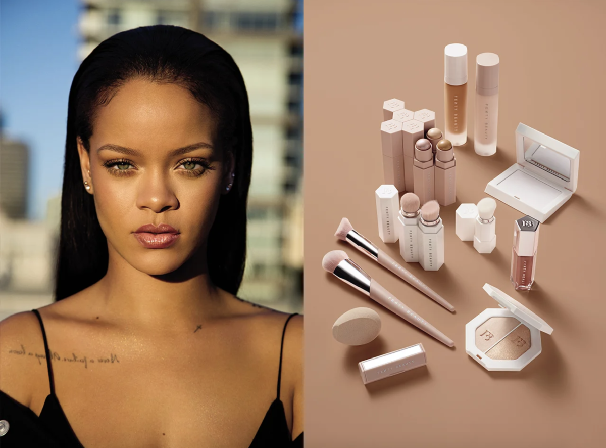 Rihanna na campanha da fenty beauty. Reprodução
