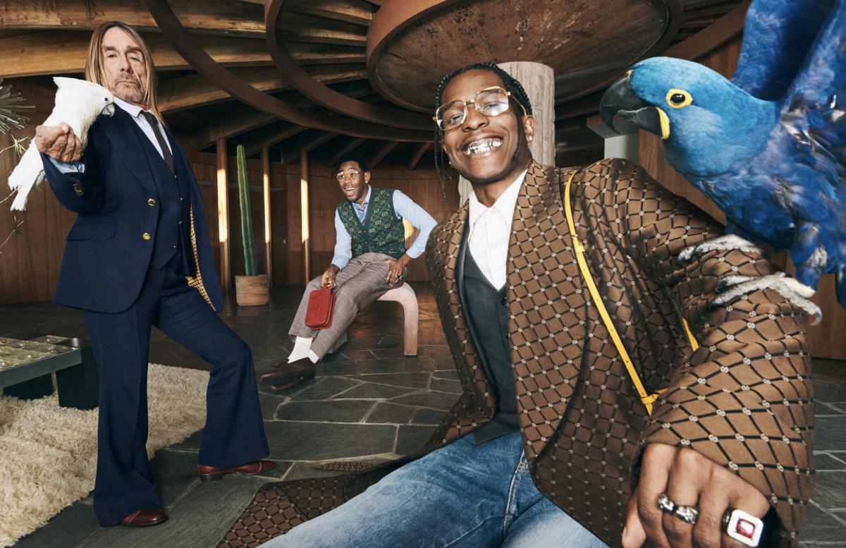 A$AP Rocky, Iggy Pop e Tyler, The Creator dançando na nova campanha da Gucci.  Veja // Notícias // FFW