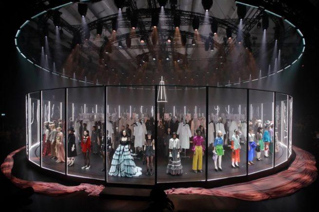 o desfile de inverno 20 da Gucci, o último presencial desde que a pandemia começou