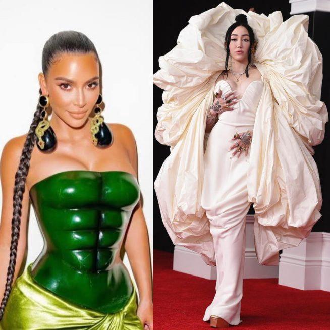 Kim Kardashian e Noah Cyrus de Schiaparelli
