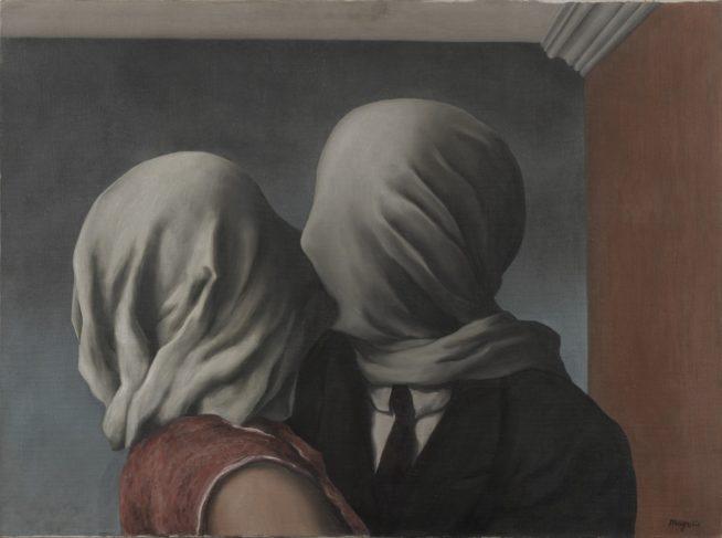 """the lovers"" de rene magritte, 1928"