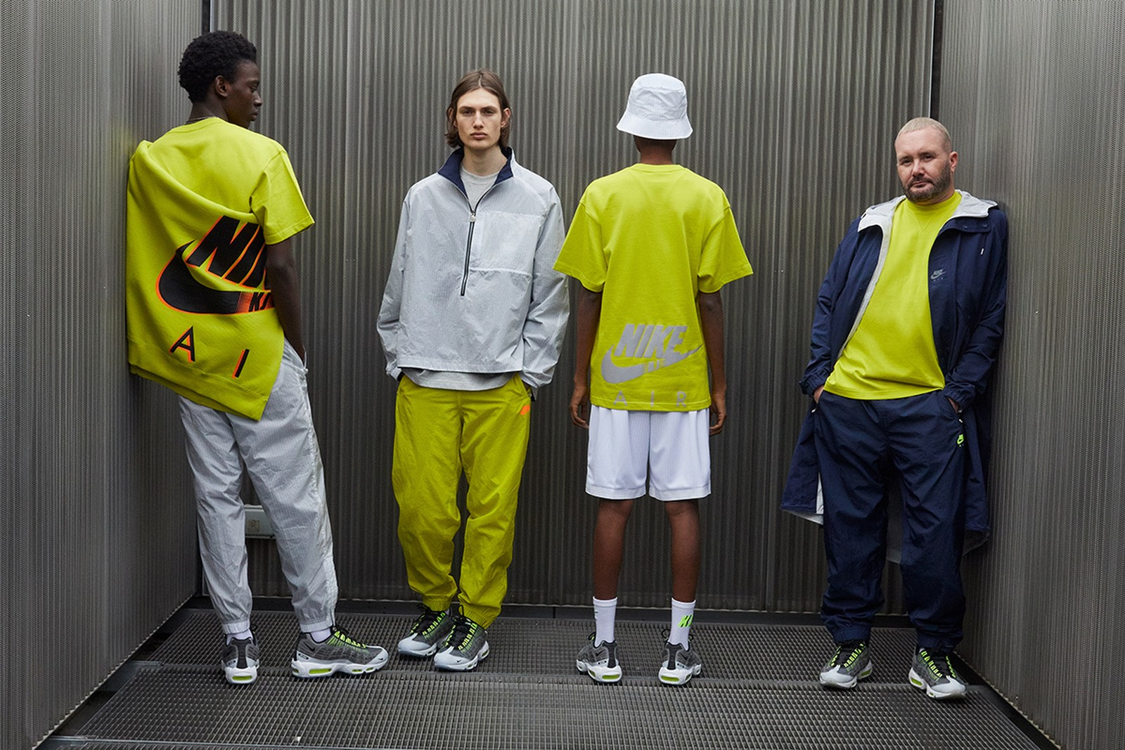 Peças da coleção Nike x Kim Jones cor Volt