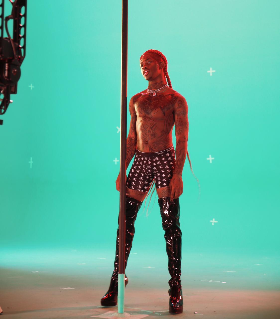 Lil Nas X nas gravações de MONTERO