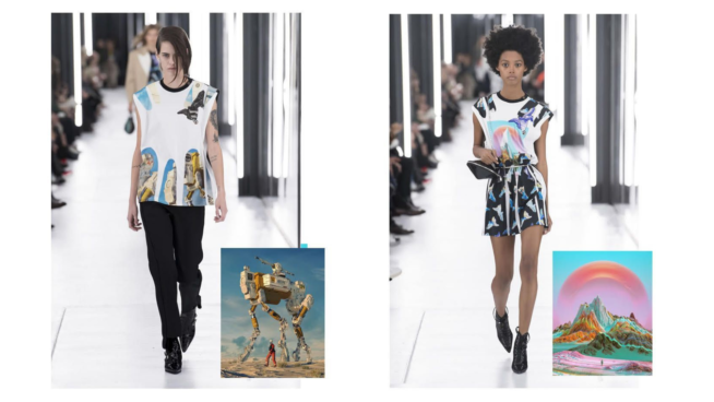 a colaboração do artista digital Beeple com a Louis Vuitton. fotos: cortesia